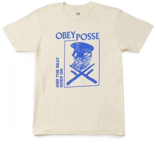 Obey And The Beat Goes On T-shirt - Cream