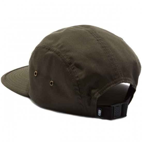 Obey Worldwide Seal 5 Panel Hat - Army