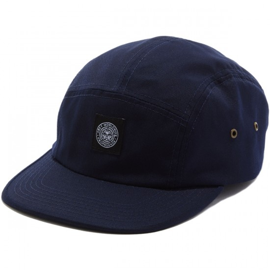 Obey Worldwide Seal 5 Panel Hat - Navy