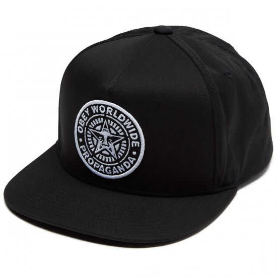 Obey Classic Patch Snapback Hat - Black