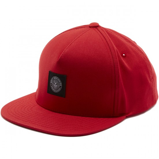 Obey Worldwide Seal Snapback Hat - Red