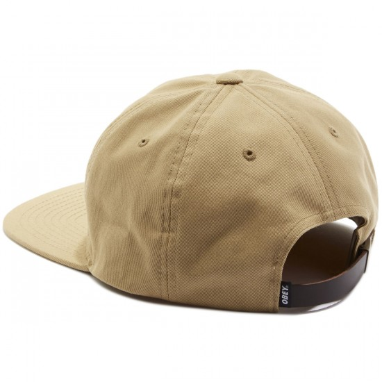 Obey Bunt 6 Panel Hat - Sand