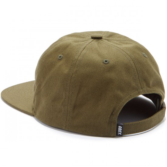Obey Creeper 6 Panel Hat - Army