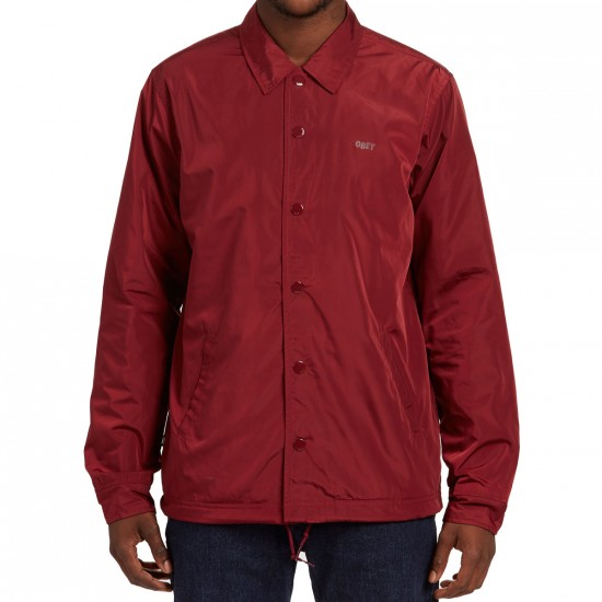 Obey Baker Graphic Jacket - Burgundy