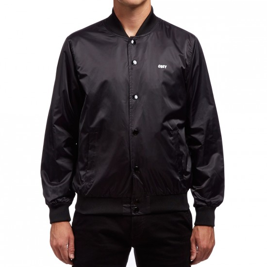 Obey Creeper Graphic Jacket - Black