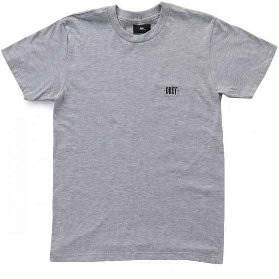 Obey New Times T-Shirt - Heather Grey