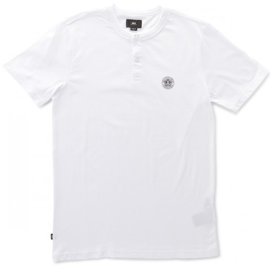 Obey Mission Henley T-Shirt - White