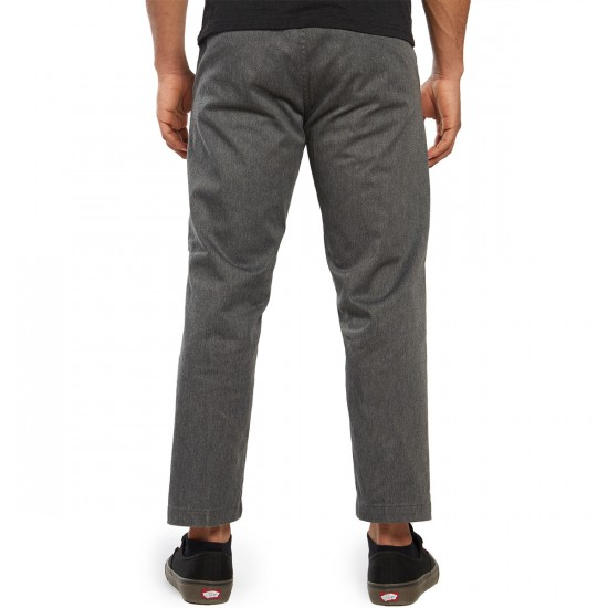 Obey Straggler Flooded Pants - Heather Grey - 30 - 32