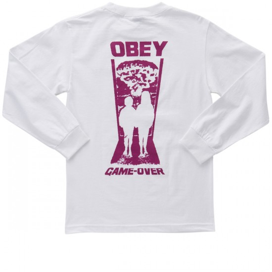 Obey Game Over Long Sleeve T-Shirt - White