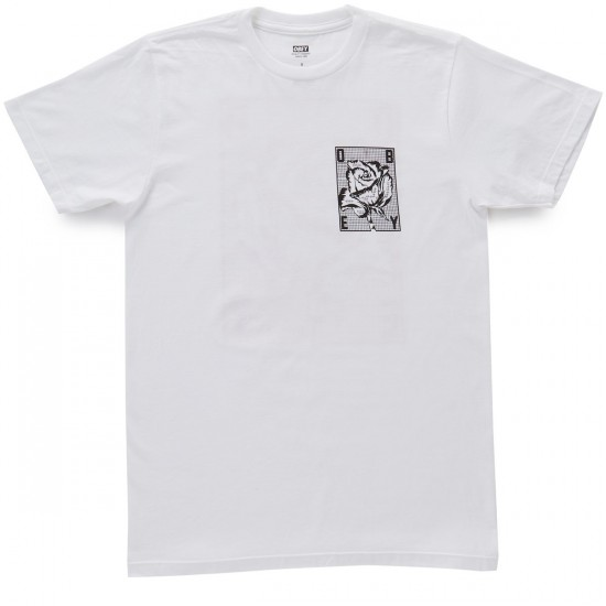 Obey Rose Grid T-Shirt - White