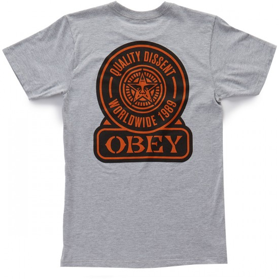 Obey Quality Dissent T-Shirt - Heather Grey
