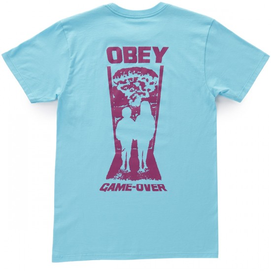 Obey Game Over T-Shirt - Pacific Blue