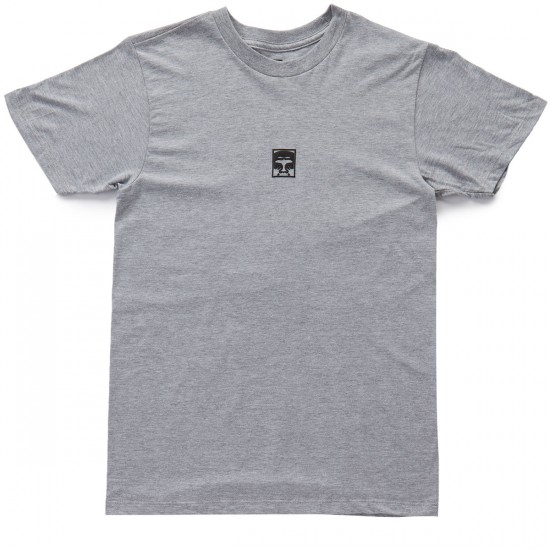 Obey Half Face T-Shirt - Heather Grey