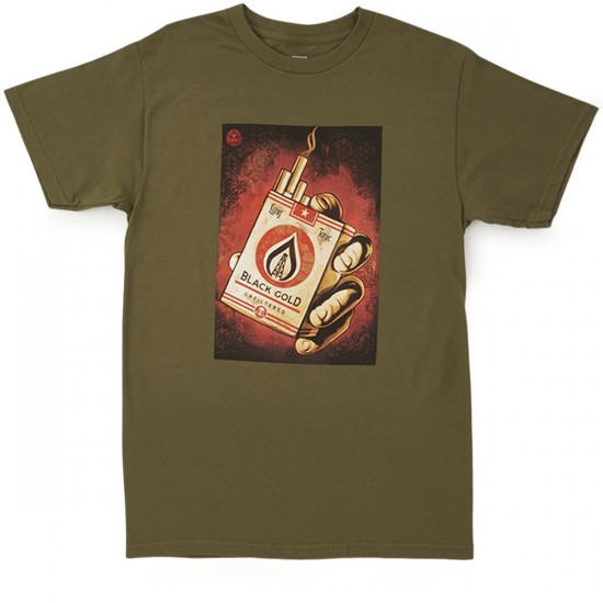 Obey Black Gold T-Shirt - Military Olive