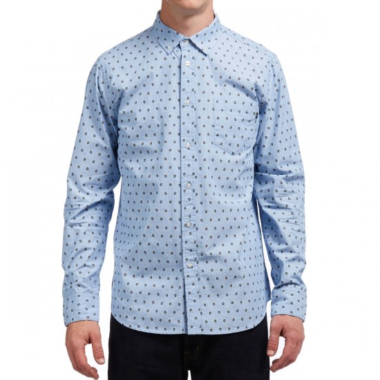 Obey Syd Woven Long Sleeve Shirt - Light Blue Multi