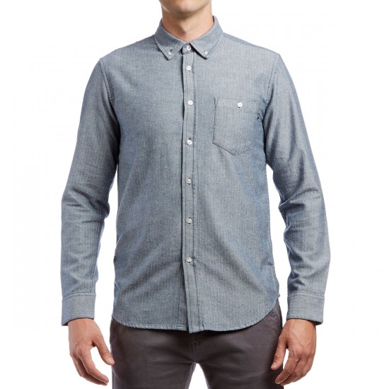 Obey Wiseman Long Sleeve Shirt - Navy Multi