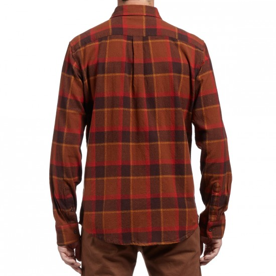 Obey Gower Long Sleeve Shirt - Brown