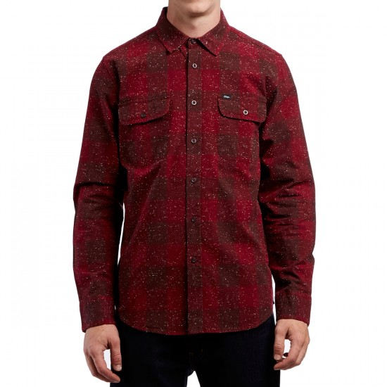 Obey Drifter Long Sleeve Shirt - Burgundy