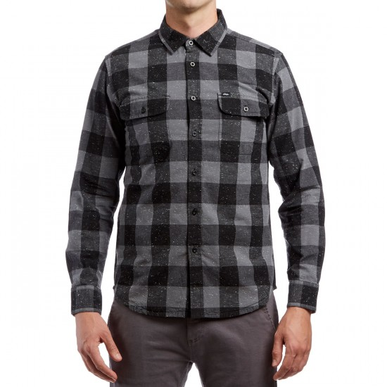 Obey Highland Long Sleeve Shirt - Red Multi