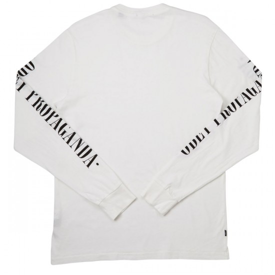 Obey New Times Propaganda Long Sleeve T-Shirt - White