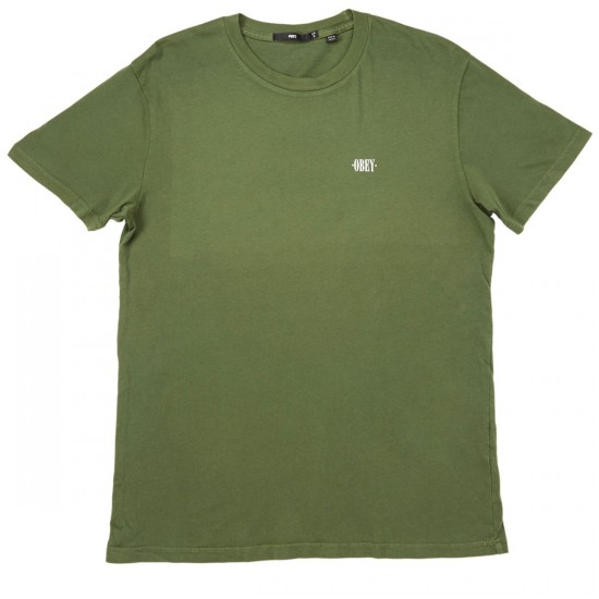 Obey New Times T-Shirt - Light Army