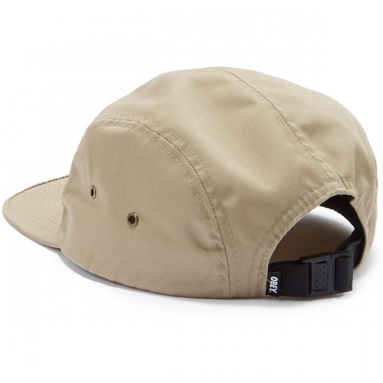Obey Worldwide Seal 5 Panel Hat - Khaki