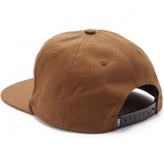 Obey New Federation Snapback Hat - Brown