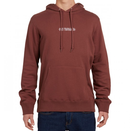 Obey New Times Hoodie - Faded Burgundy