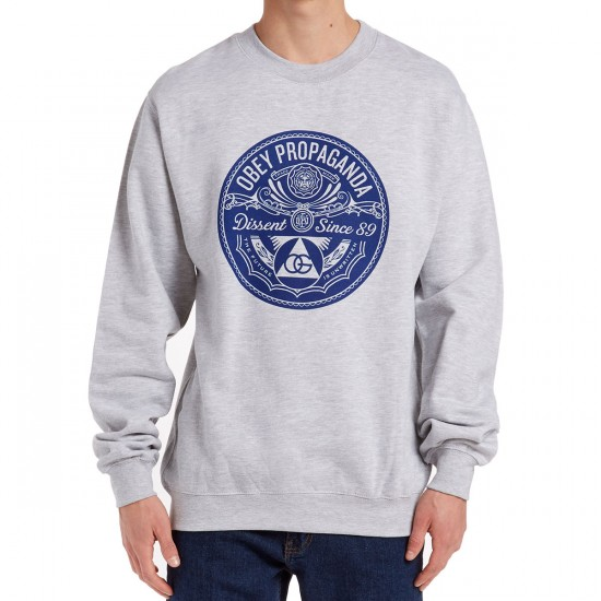 Obey Pyramid of Dissent Sweatshirt - Heather Grey