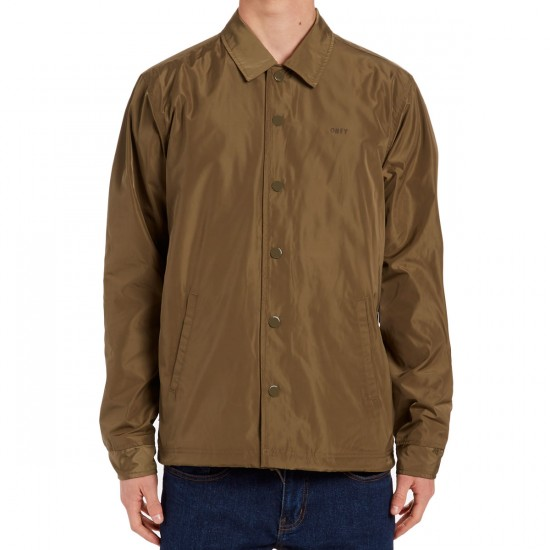 Obey Baker Graphic Jacket - Dusty Army