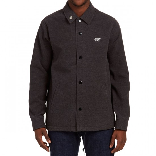 Obey Lurker Coaches Jacket - Heather Charcoal