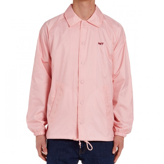 Obey Unusual Activity Coaches Jacket - Pink