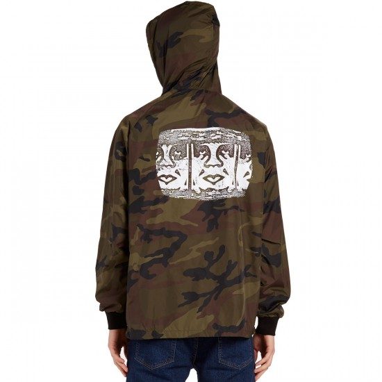 Obey Channel Zero Coaches Jacket - Camo