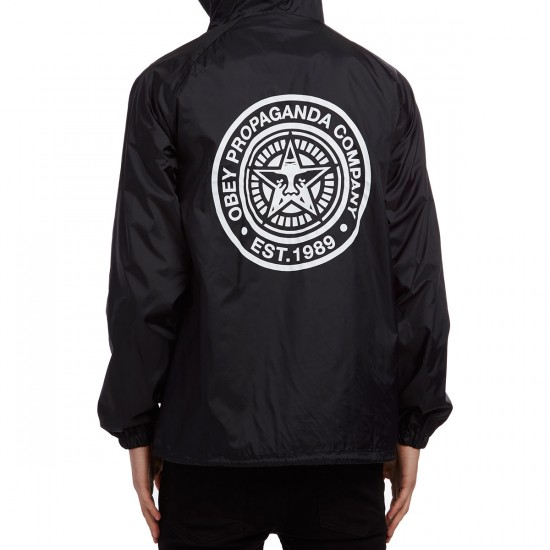 Obey Propaganda Company Coaches Jacket - Black