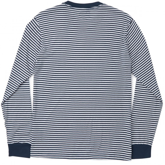 Obey Malta Long Sleeve T-Shirt - Navy Multi