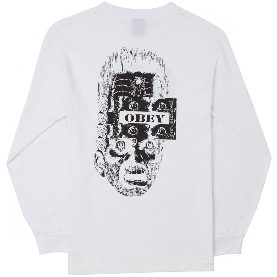 Obey One Shot Long Sleeve T-Shirt - White
