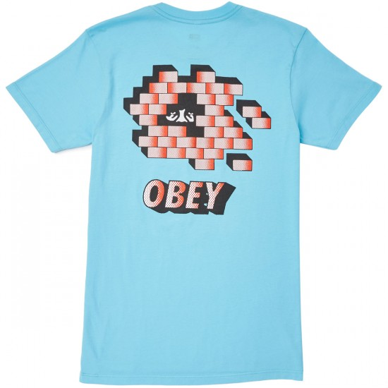 Obey Wall Creep T-Shirt - Pacific Blue