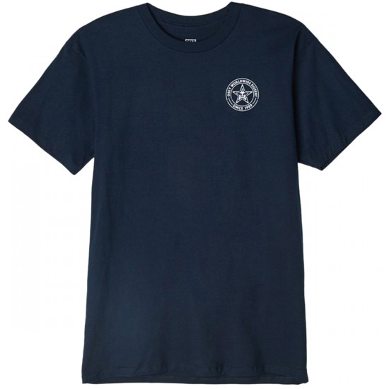 Obey Paste Star T-Shirt - Navy