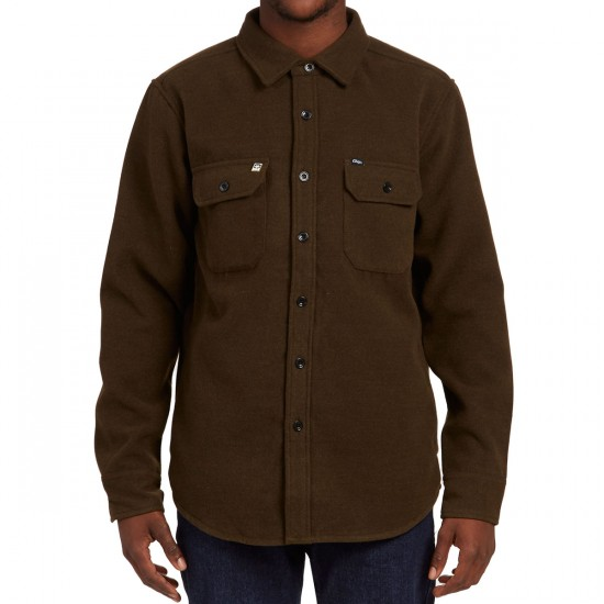Obey The Jack Woven Jacket - Heather Army