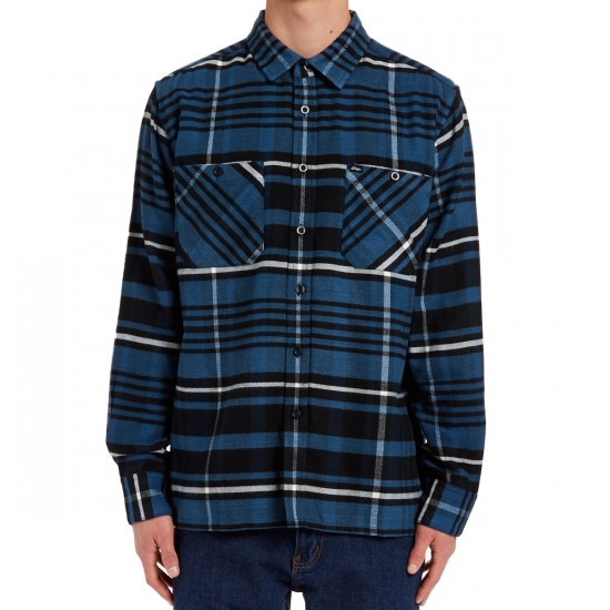 Obey Patterson Long Sleeve Shirt - Navy Multi