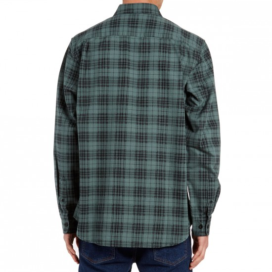 Obey Stratford Long Sleeve Shirt - Charcoal Multi