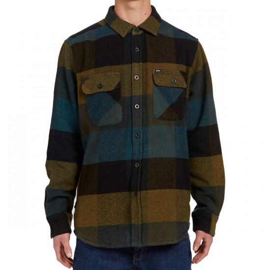 Obey Wallace Long Sleeve Shirt - Blue Multi