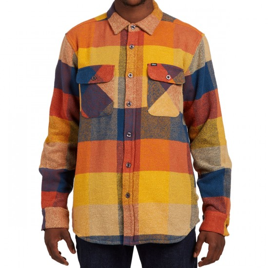 Obey Wallace Long Sleeve Shirt - Brown Multi