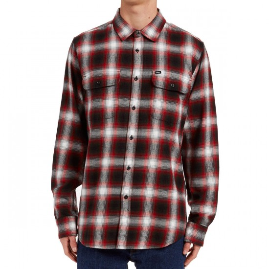 Obey Dobbs Long Sleeve Shirt - Red Multi