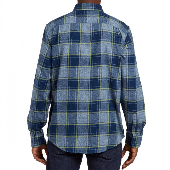 Obey Wilcox Long Sleeve Shirt - Navy Multi