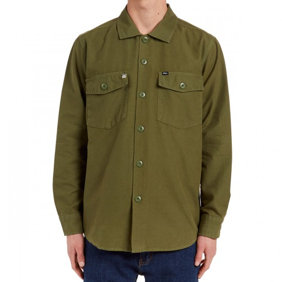 Obey Defense Long Sleeve Shirt - Army