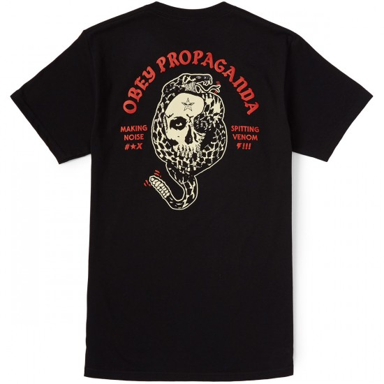 Obey Spitting Venom Rattler T-Shirt - Black