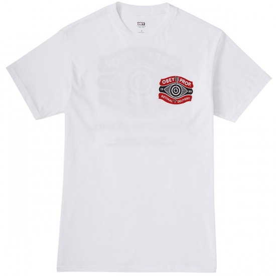 Obey Retinal Delivery T-Shirt - White