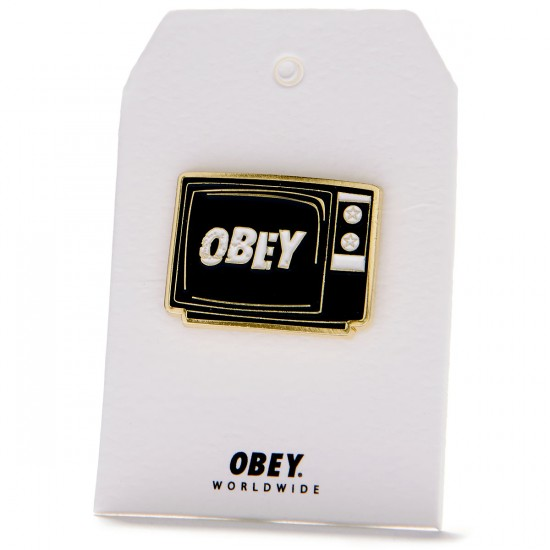 Obey What To Think Pin - Black
