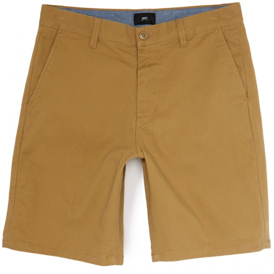 Obey Working Man II Shorts - Khaki